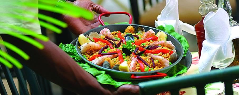 Amalia Cafe Spanish Restaurant in Palm Passage, Charlotte Amalie