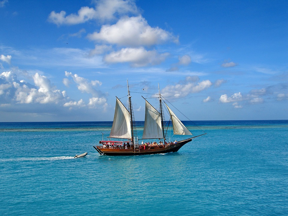 Sailboat Off the Coast of Aruba