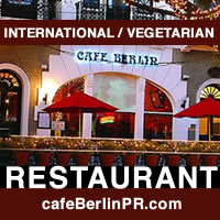 Restaurant Cafe Berlin Vegetarian food, Caribbean, Native & International flavors, Old San Juan, Puerto Rico