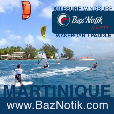 Kitesurf windsurf and wakeboard at Point du Bout in Martinique