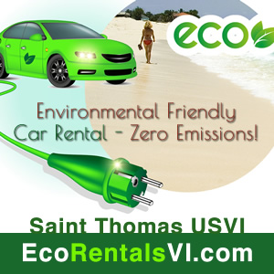 Electric Car Rentals VI, St. thomas Virgin Isalnds Caribbean