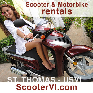 Scooter Rentals in Saint Thomas, USVI Virgin Islands