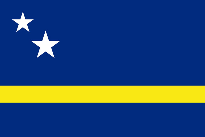 Flag of Curacao Caribbean Island Info Guide