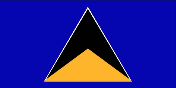Flag of St. Lucia - Caribbean Travel Guide